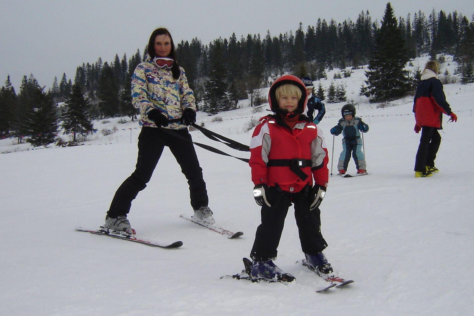 Kamizelka asekuracyjna na narty dla dziecka